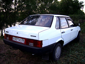 Lada Samara - Rear view of the VAZ 21099 (Lada Sagona) four-door saloon