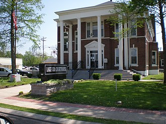 Tiptonville, Tennessee - Lake County courthouse in Tiptonville