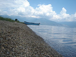 Lake Prespa beach (Konjsko).JPG