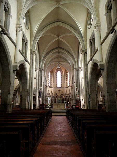 Église Saint-Martin de Landivy (53). Intérieur.