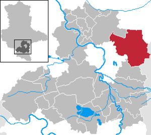 Landsberg, Saxony-Anhalt - Image: Landsberg in SK