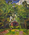 Landscape with Red House by Aristarkh Lentulov (1910s).jpg
