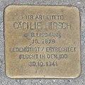 Landshut Stolperstein Hirsch, Cäcilie.jpg