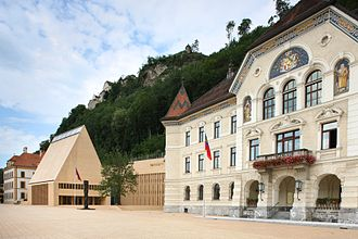 Liechtenstein - The centre of government in Vaduz.