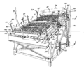 Lapeyre Automatic Shrimp Peeling Machine 1957 patent diagram.png