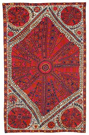 Emirate of Bukhara - Image: Large Medallion Suzani