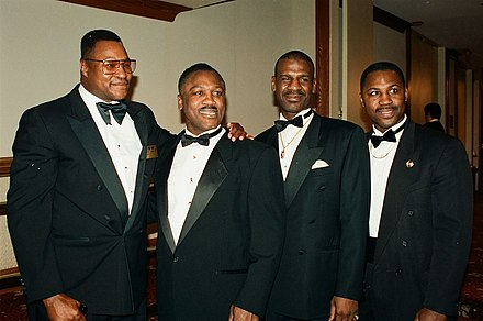 Larry Holmes, Joe Frazier, Michael Spinks and Marvis Frazier