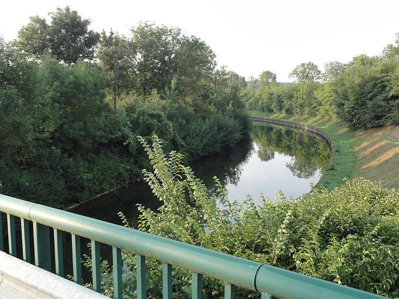 Lay-Saint-Remy (Meurthe-et-M.) Canal de la Marne au Rhin vue du pont