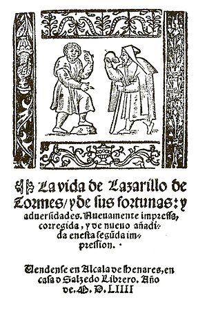 Español: La vida de Lazarillo de Tormes, y de ...