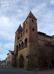 The church in Le Fossat