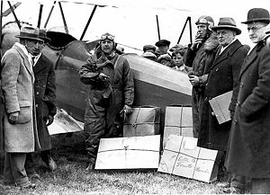 Canada's first delivery of airmail, in 1918, l...