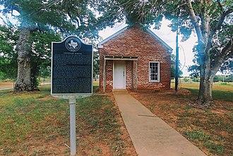 Leesville, Texas - Leesville School House with Historical Marker