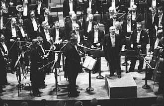 Erich Leinsdorf - Erich Leinsdorf conducting Czech Philharmonic, Dvořák Hall, Prague, Czech Republic, 23 June 1988.
