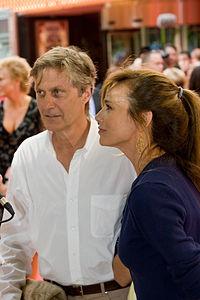 Lena Olin med Lasse Hallström, 2008.