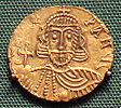 Leo III base gold solidus minted in Rome.jpg