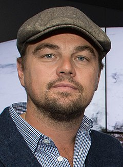 Leonardo DiCaprio won for his portrayal of Hugh Glass in The Revenant (2015). Leonardo DiCaprio visited Goddard Saturday to discuss Earth science with Piers Sellers (26105091624) cropped.jpg