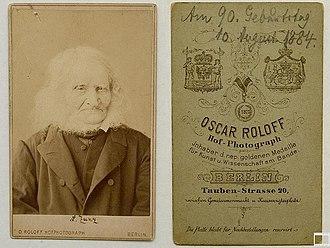 Leopold Zunz - Leopold Zunz on his 90th birthday, 10 August 1884