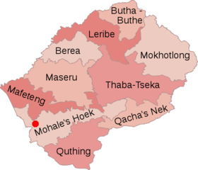 HIVAIDS In Lesotho Wikipedia - Lesotho political map