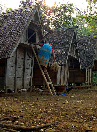 Granary - Leuit, Sundanese traditional granary, in West Java, Indonesia.