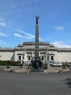 Leverhulme Memorial memorial in Port Sunlight, Merseyside, UK