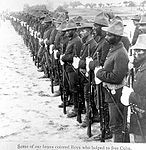 Soldiers of the 10th Cavalry in Cuba, after the Spanish-American War