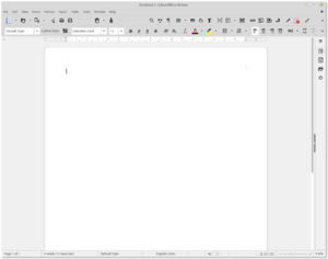 Application software - LibreOffice Writer, an open-source word processor that is a component of LibreOffice