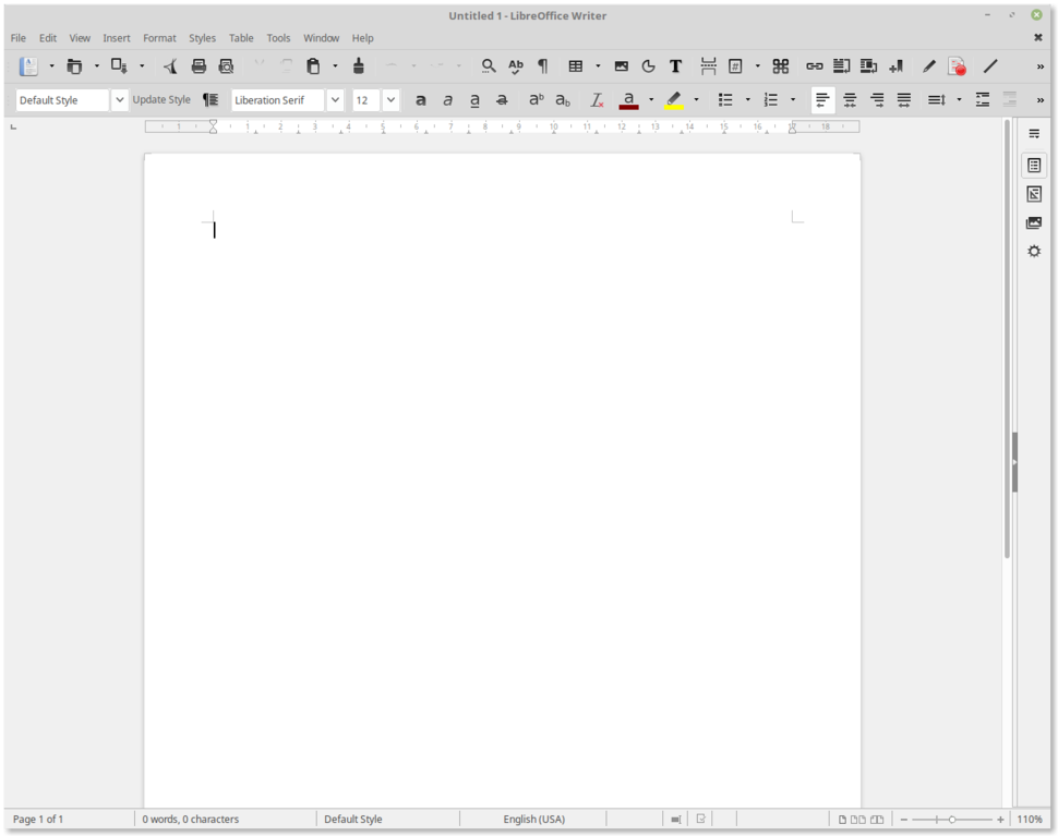 LibreOffice Writer 5.1.6.2