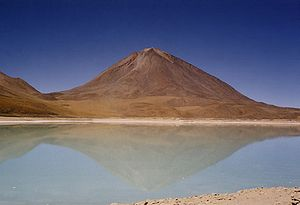 Cordillera Occidental (Central Andes) - Licancabur and Laguna Verde.