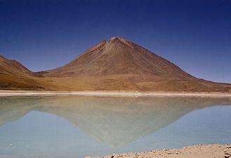 Cordillera Occidental (Central Andes) - Licancabur and Laguna Verde.