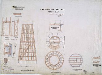 Sea Hill Light - Plans for the second Sea Hill lighthouse, 1895