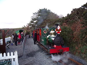 "Groudle Glen Railway - A ""Mince Pie Special"" at Lime Kiln Halt. Boxing Day 2008"