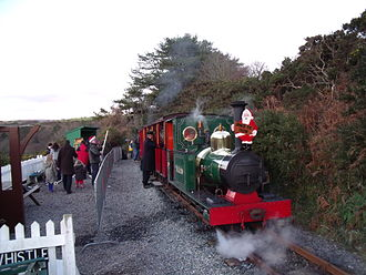 """Groudle Glen Railway - A """"Mince Pie Special"""" at Lime Kiln Halt. Boxing Day 2008"""