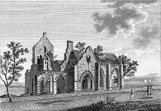 Dumfries - Lincluden Collegiate Church, also known as Lincluden Abbey, c.1789