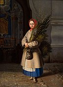 Lithuanian Girl with Palm Sunday Fronds.jpeg