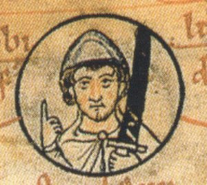 Liudolf, Duke of Saxony - Ludolf dux Saxonie at the top of a pedigree of the Ottonian dynasty, Chronica sancti Pantaleonis, Cologne, 12th century