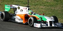 Liuzzi testing the Force India car