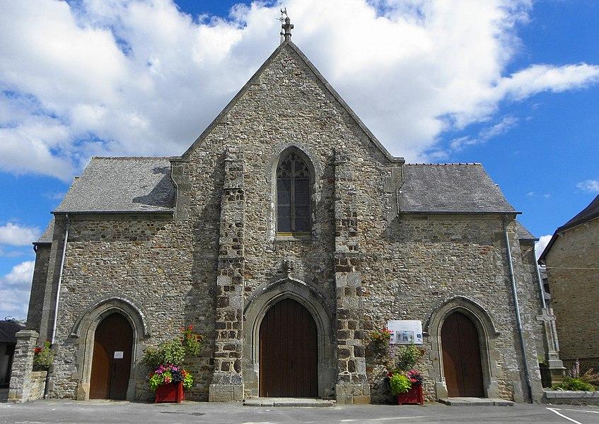 Église Notre-Dame de Livré-sur-Changeon (35). Façade occidentale.