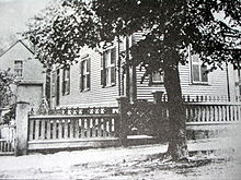 The Borden's house in Fall River, Massachusetts, where the murders took place.