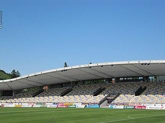 Ljudski vrt - East stand of the stadium in July 2015.