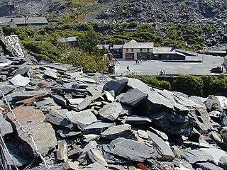 Llechwedd quarry Disused slate mine in North Wales