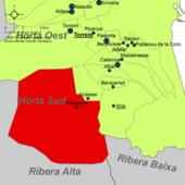 Localització de Picassent respecte de l'Horta Sud.png