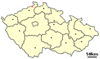 Location of Czech city Decin.png