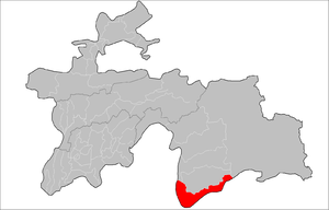 Ishkoshim District - Image: Location of Ishkoshim District in Tajikistan