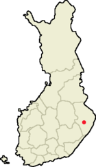 Location of Joensuu in Finland.png