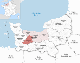 Arrondissement of Vire - Image: Locator map of Arrondissement Vire 2017