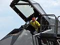 Lockheed F-117 Nighthawk entering.jpg