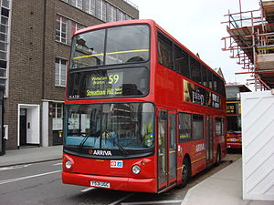 London Buses route 59 - Arriva London Alexander ALX400 bodied DAF DB250 at King's Cross in June 2008