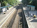 Looking down into Church Stretton Station from the bridge - geograph.org.uk - 1448077.jpg