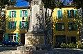 Lorgues - Cours de la République - View North on War Monument.jpg