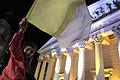 Los fieles disfrutan la noche de vigilia frente a la Catedral Metropolitana (8569750943).jpg